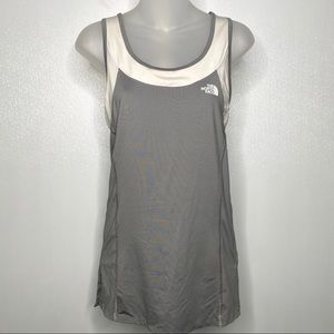 THE NORTH FACE Gray White Athletic Tank Top Sz L